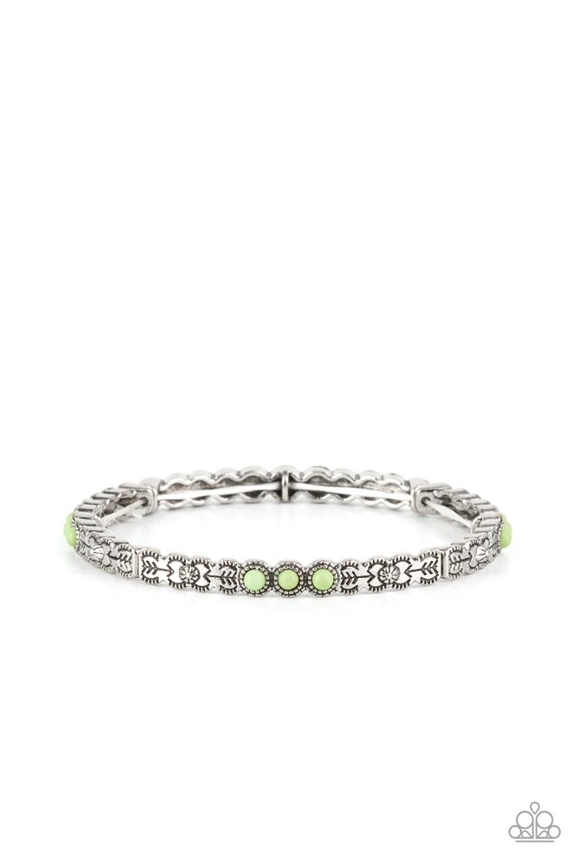 Living In The PASTURE - Green - Paparazzi Bracelet Image
