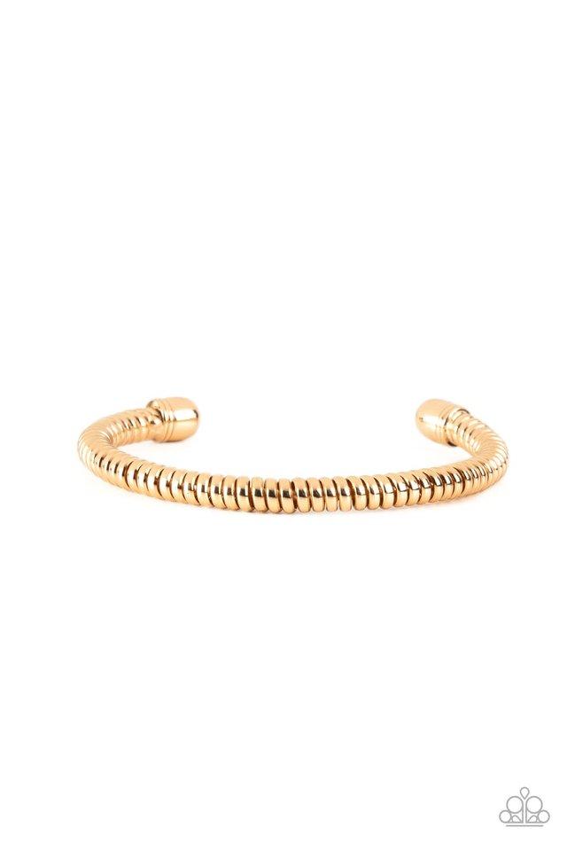 Turbocharged - Gold - Paparazzi Bracelet Image