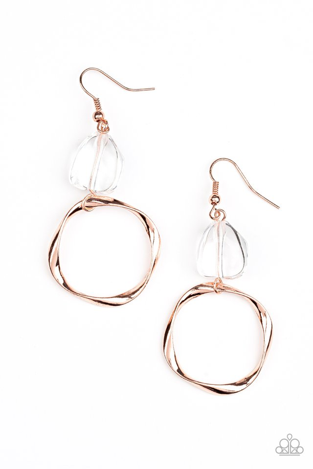 All Clear - Copper - Paparazzi Earring Image