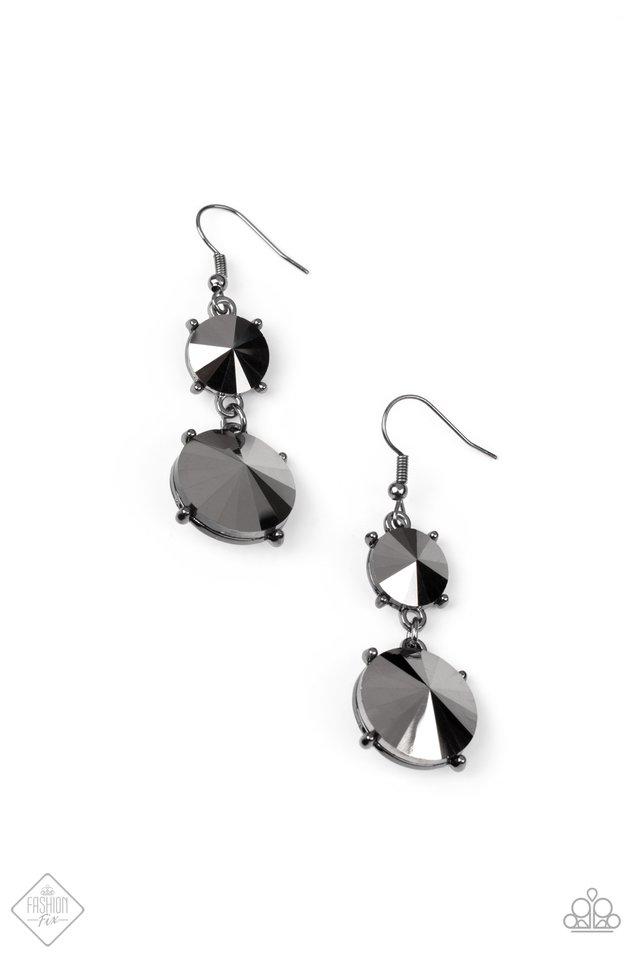 Sizzling Showcase - Black - Paparazzi Earring Image