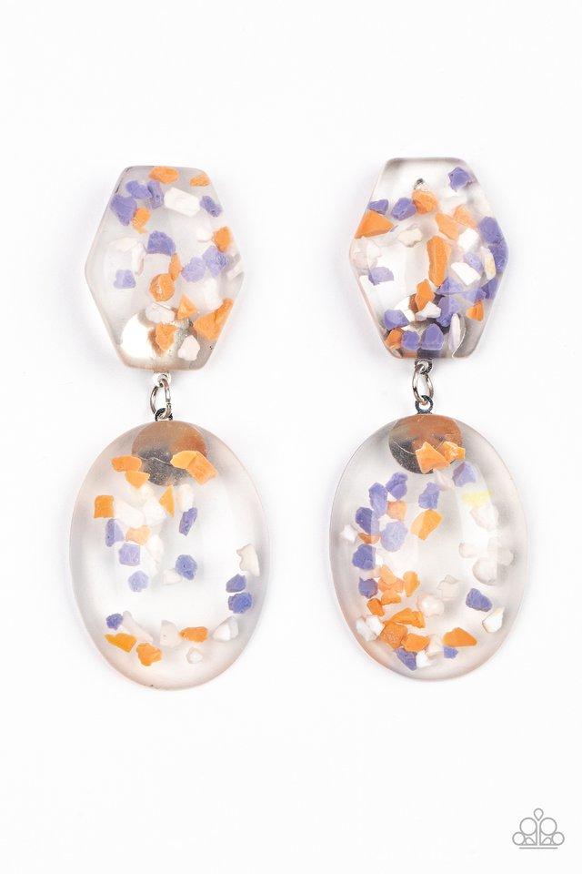 Flaky Fashion - Orange - Paparazzi Earring Image