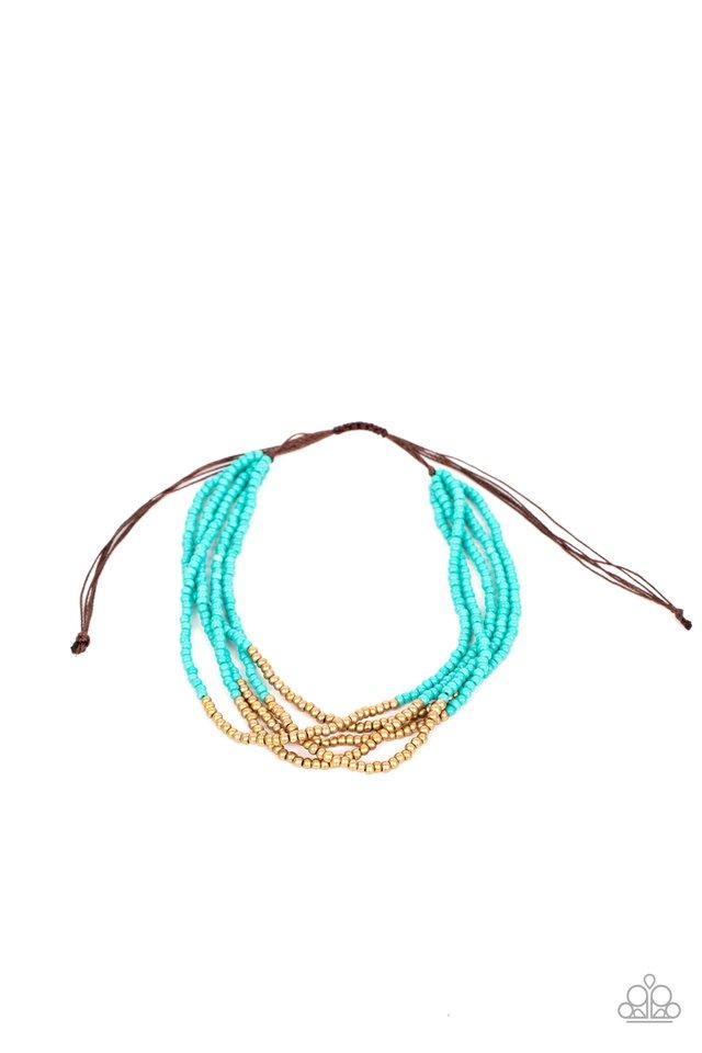 BEAD Bold - Blue - Paparazzi Bracelet Image