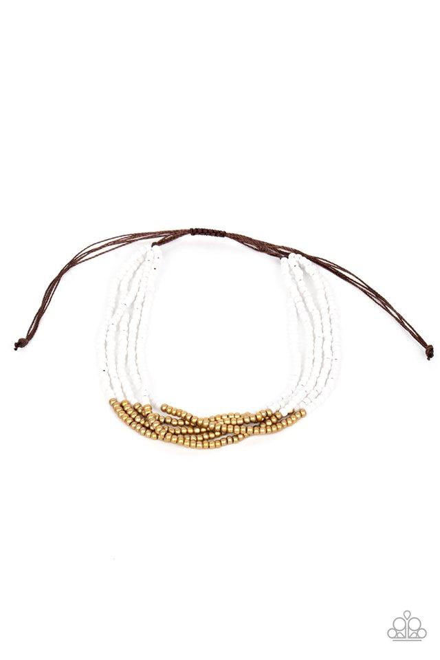BEAD Bold - White - Paparazzi Bracelet Image