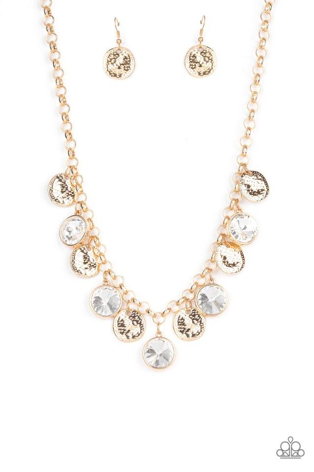 Spot On Sparkle - Gold - Paparazzi Necklace Image