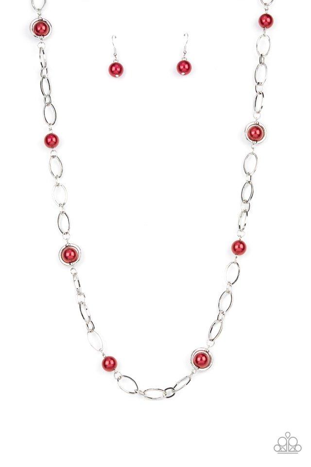 Fundamental Fashion - Red - Paparazzi Necklace Image