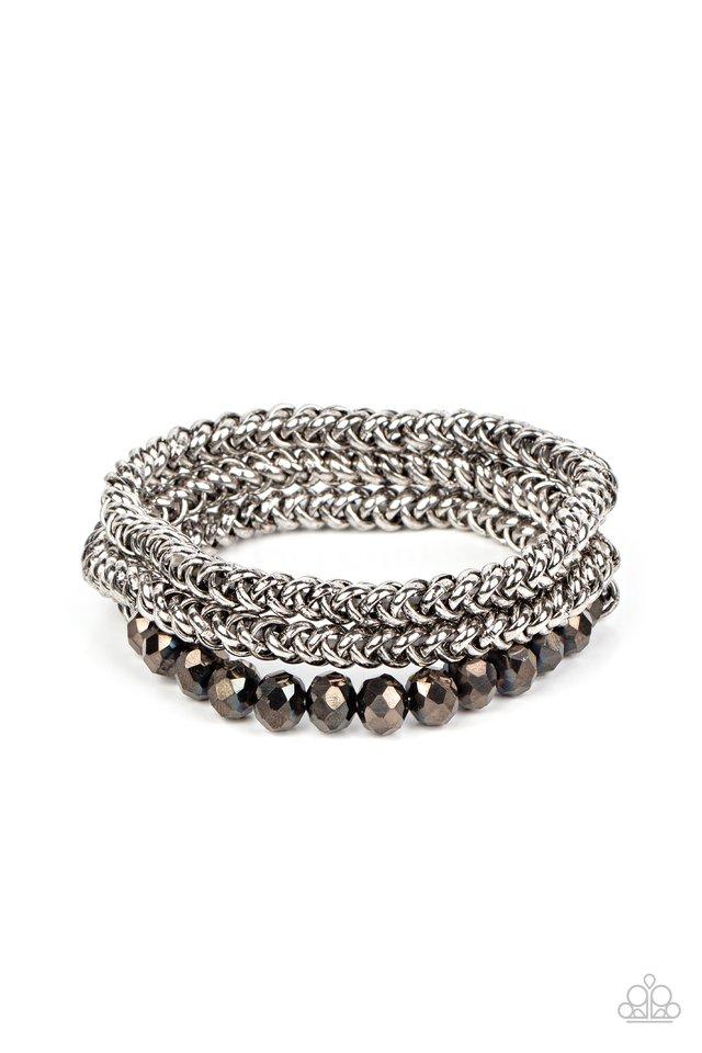 Gutsy and Glitzy - Silver - Paparazzi Bracelet Image