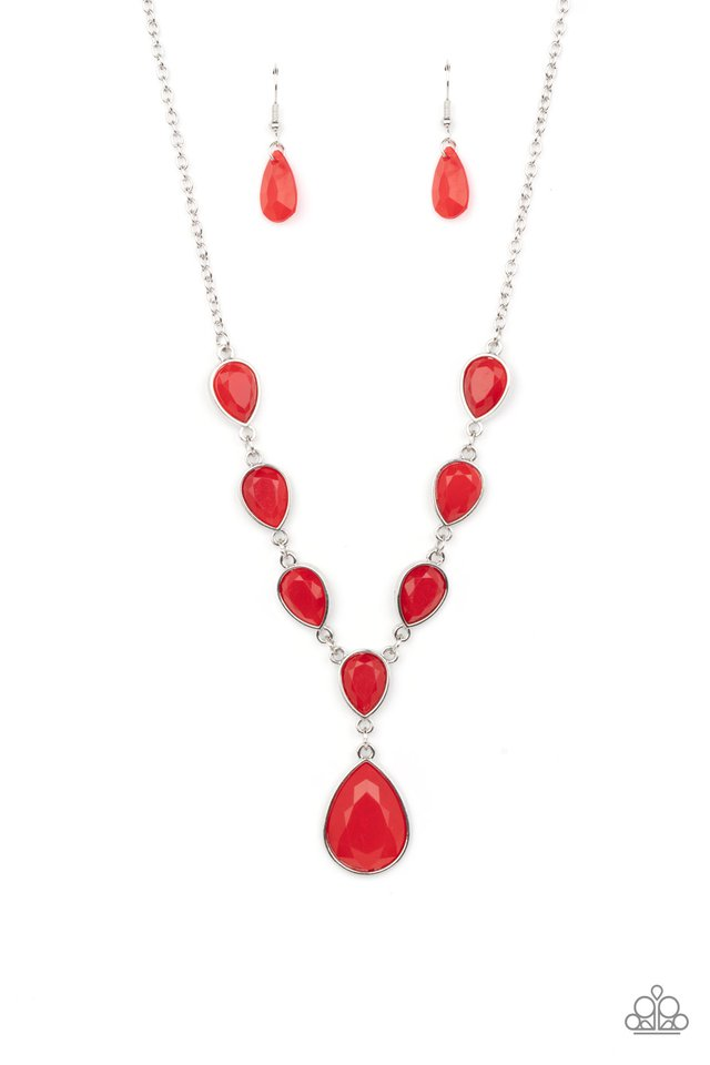 Party Paradise - Red - Paparazzi Necklace Image