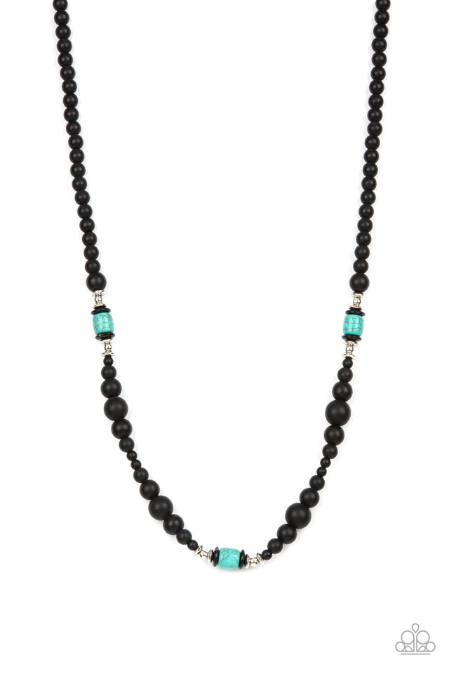 Stone Synchrony - Blue - Paparazzi Necklace Image