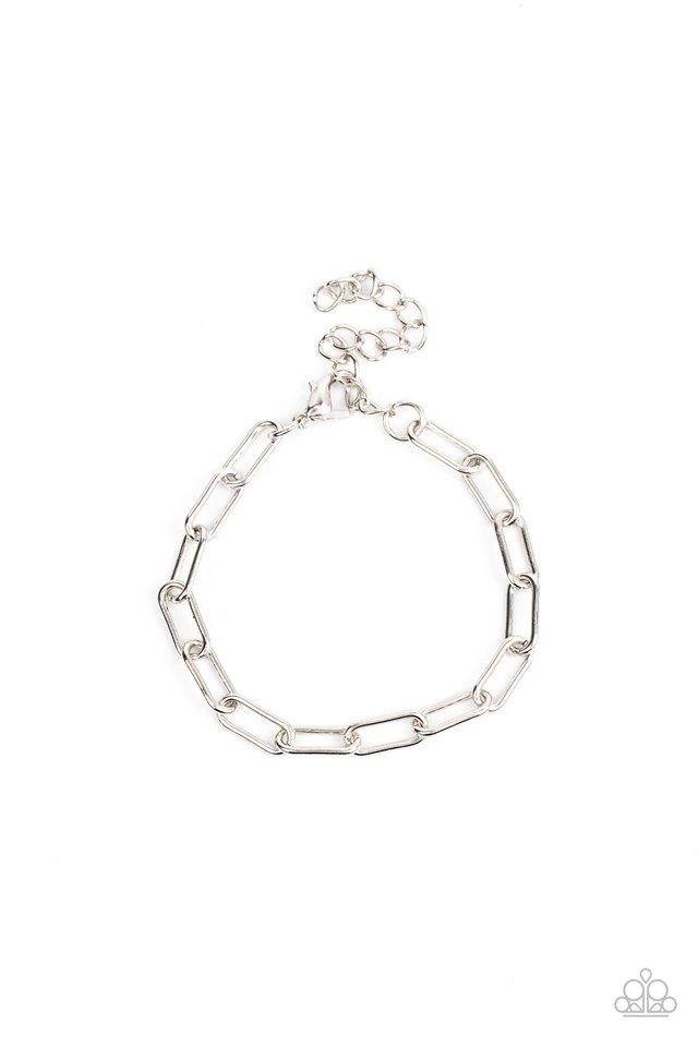 Lit Locomotion - Silver - Paparazzi Bracelet Image