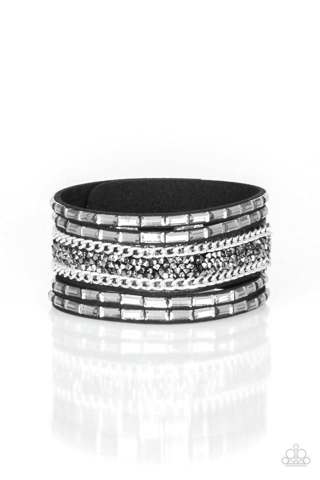 Less Bitter, More Glitter! - Black - Paparazzi Bracelet Image