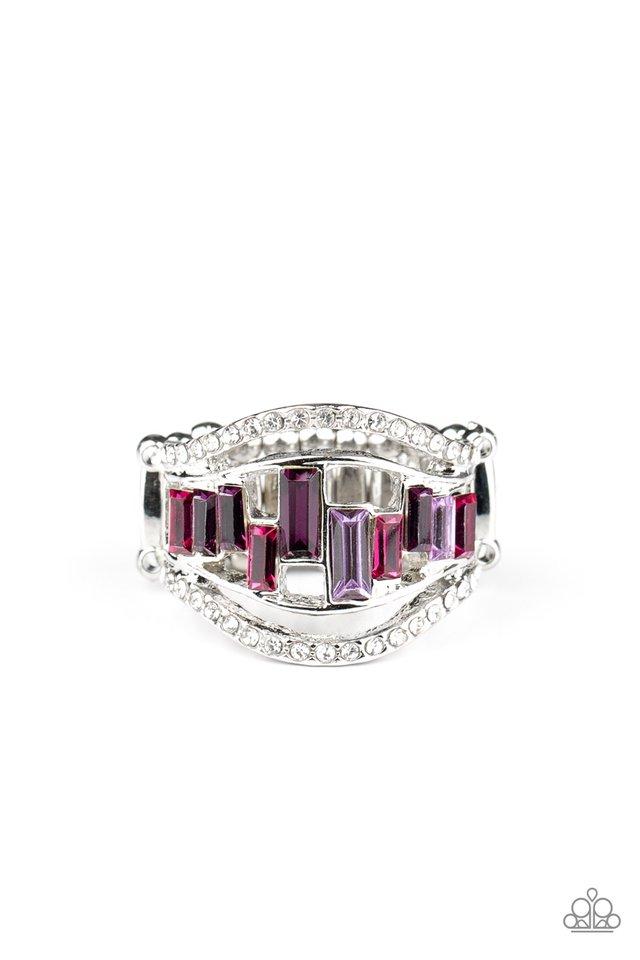 Treasure Chest Charm - Purple - Paparazzi Ring Image