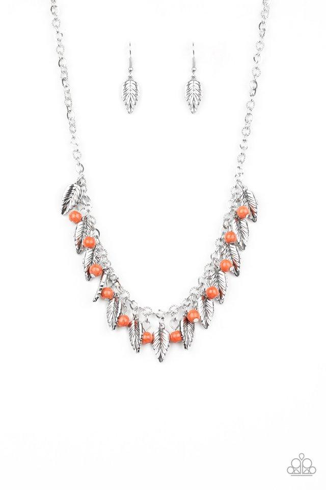 Boldly Airborne - Orange - Paparazzi Necklace Image